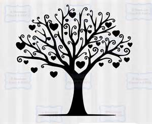 Free Family Tree Silhouette SVG Files