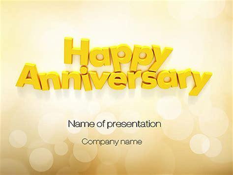 happy anniversary  yellow powerpoint template