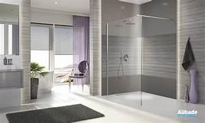 paroi de douche leda open espace aubade With carrelage adhesif salle de bain avec leda paroi de douche