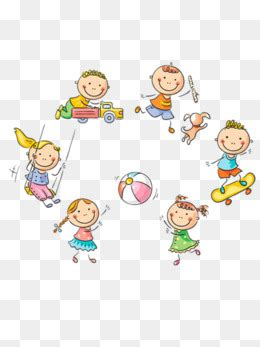 kids playing png vector psd  clipart