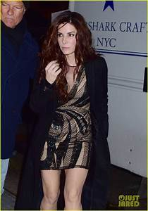 Full Sized Photo of sandra bullock rocks sexy mini dress ...