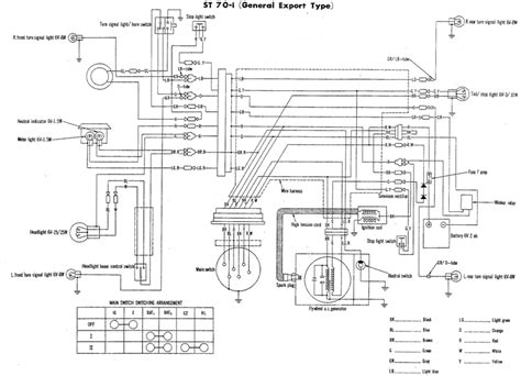 1977 Honda Ct70 Wiring Schematic by St70 Wiring Diagram Page Honda St70i St70d And St70ii