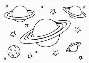 Disegni dei pianeti da stampare e colorare per bambini