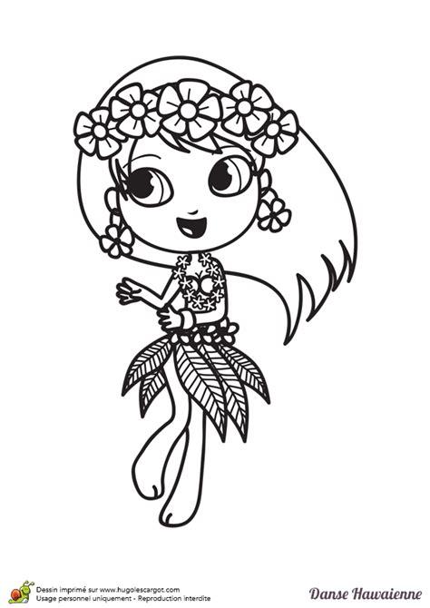 jeux de fille de cuisine de coloriage d une danseuse hawaïenne hugolescargot com