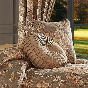 Camellia, Tufted, Round, Decorative, Throw, Pillow