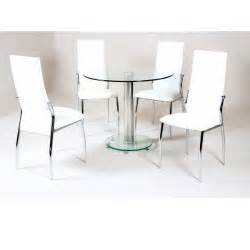 glass dining room table set cheap heartlands alonza clear glass dining table set 4 chairs for sale
