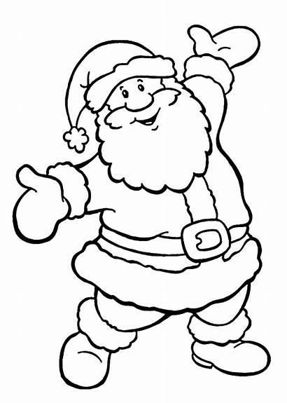 Santa Coloring Claus Pages Chiristmas Christmas Printable