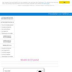 Modèle De Présentation De Cv by Resume Format Pr 233 Sentation Cv Titre