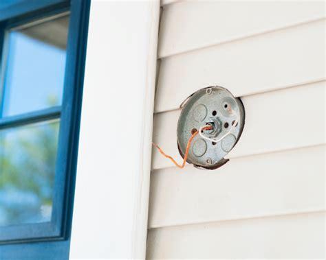 install an exterior lighting fixture outdoors exterior