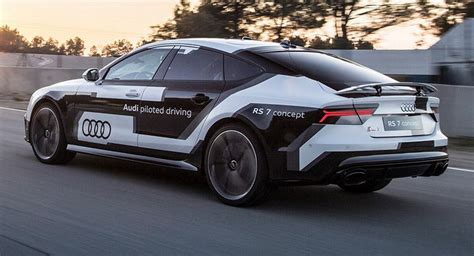 audis rs piloted driving concept laps spains parcmotor