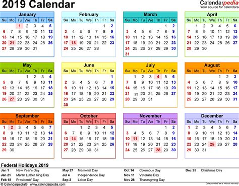 november template calendar design