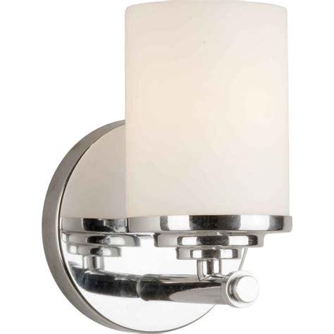 4 bulb vanity light shop 1 light 4 75 in chrome vanity light at lowes com