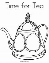 Tea Coloring Teapot Cup Pages Twistynoodle Drawing Line Noodle Pot Printable Party Sheets Communitea Template Decorative Built California Usa Favorites sketch template