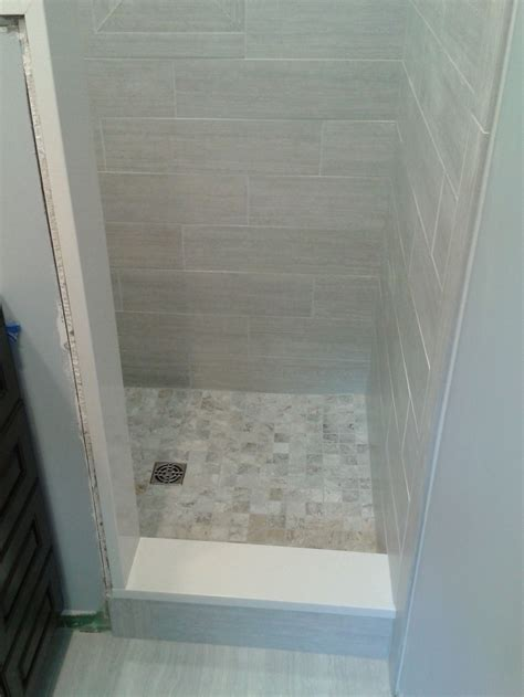 small bathroom stand  shower tile tile work