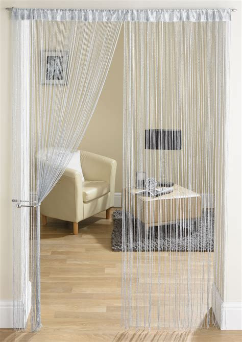 String Curtains by Glam Grey String Curtain From Net Curtains Direct