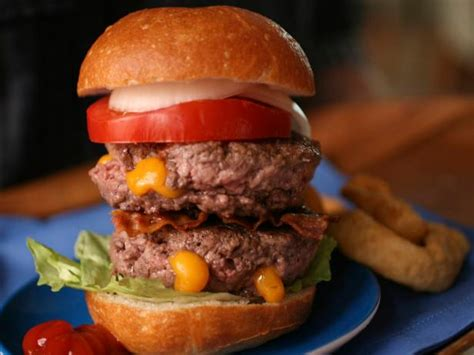 double stacked juicy hamburger recipe cooking channel