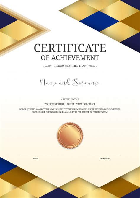 modelo de certificado de luxo vetor premium