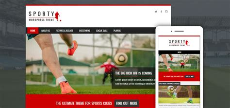 Best Free Themes 20 Best Free Sports Themes 2018 Template Express