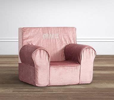 lavender velvet anywhere chair pottery shimmer velvet dusty blush anywhere chair pottery barn