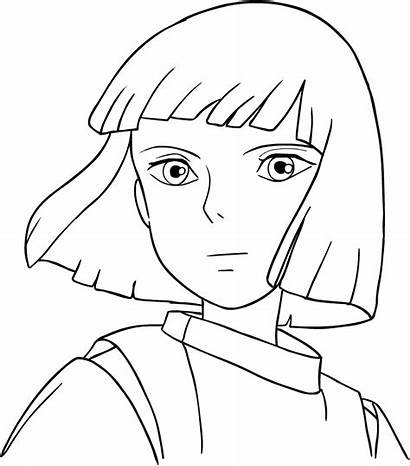 Coloring Away Spirited Haku Pages Studio Ghibli