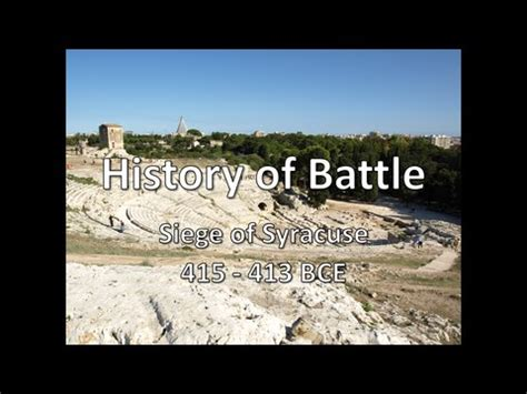 siege bce history of battle the siege of syracuse 415 413 bce