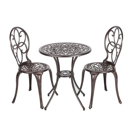 patio sense arria antique bronze 3 piece cast aluminum