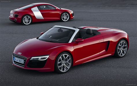 Audi R8 Spyder V10 2013 Widescreen Exotic Car Picture #01