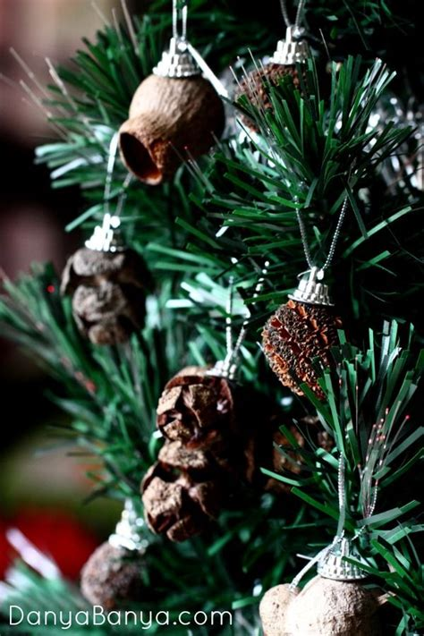 natural christmas ornaments ideas  pinterest