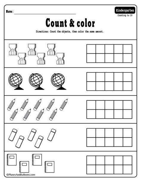 kindergarten math worksheets  files
