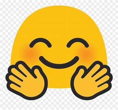 Emoji Hug Hugging Clipart Android Face Transparent