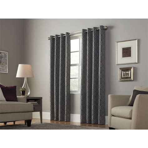 light filtering privacy curtains shop allen roth keldgate 84 in graphite polyester