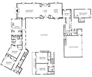 Small Guest House Floor Plans Hacienda Floor Plans So Replica Houses