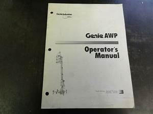 Genie Awp Parts Reference Guide Manual 35053
