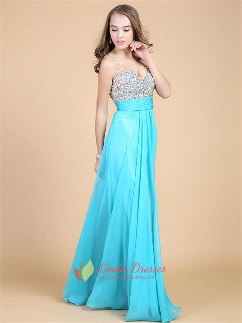 sequins tiffany blue sweetheart neckline prom dress