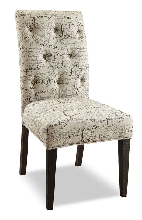french script  piece accent dining chair package  brick