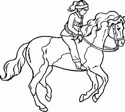 Horse Coloring Riding Pages Horses Printable Pony