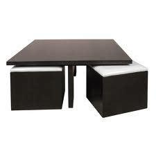 table basse avec poufs integres table basse avec pouf