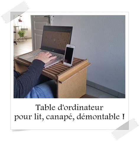 canapé démontable table d 39 ordinateur pour lit canapé démontable lpb
