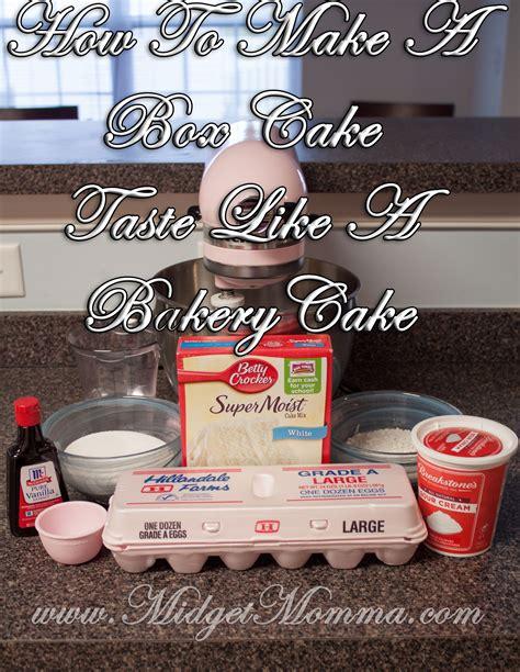 boxed cake mix taste  bakery cake