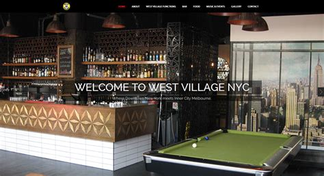 west village nyc bar website design bar web design