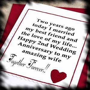 happy 2nd anniversary two down forever after to go With 2nd year wedding anniversary