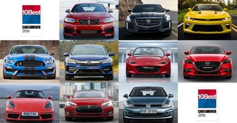 Car And Driver Names Its 10 Best For 2016