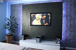 Ideen Tv Wand : ausgezeichnet wohnzimmer tv wand ideen ~ Lizthompson.info Haus und Dekorationen