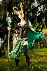 Lady Loki Cosplay Costumes