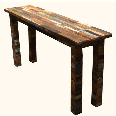 rustic wood entry table rustic reclaimed wood entry way console distressed foyer
