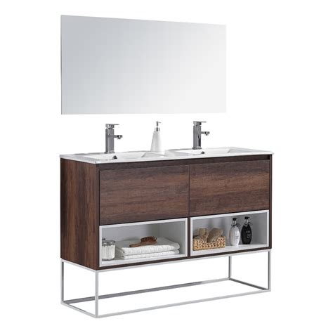 Modern Bathroom Mirrors For Sale by Aquamoon Palma 48 2 Wengue Modern Bathroom Vanity With
