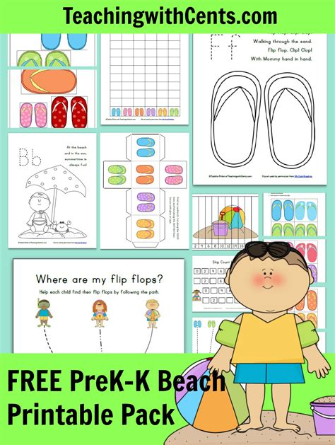 free beach printable pack free homeschool deals