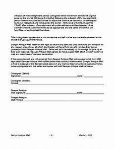 free consignment contract template consignment contract With consignment shop contract template
