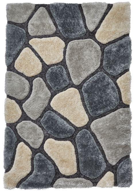 pebble rug grey blue pebble rug shaggy pile noble house soft hand tufted home d 233 cor mat ebay