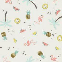tissu flamants roses mondial tissus tissu pinterest With chambre bébé design avec le champ de fleurs code promo